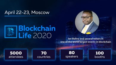Photo of Ian Balina and several others in one of the world's biggest events in block-chain