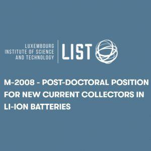 Postdoc-LI-ION BATTERIES